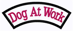 Dog At Work Patch embroidery design