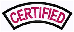 Certified Patch embroidery design