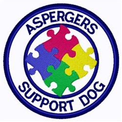 Aspergers Support Patch embroidery design