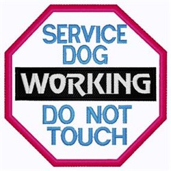 Do Not Touch Patch embroidery design