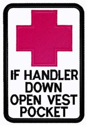Handler Down Patch embroidery design