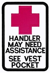 Handler Assistance Patch embroidery design