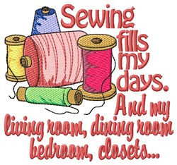 Sewing Fills My Days embroidery design