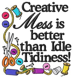 Creative Mess embroidery design