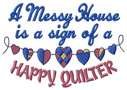 Happy Quilter embroidery design