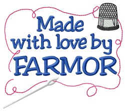 Made By Farmor embroidery design
