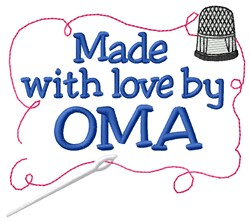 Made By Oma embroidery design
