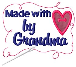Made By Grandma embroidery design