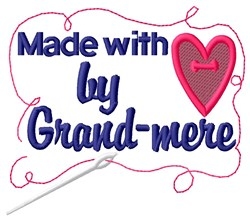 Made By Grand-mere embroidery design
