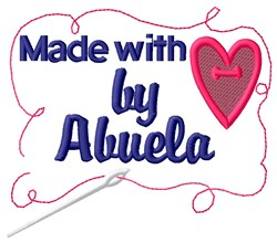Made By Abuela embroidery design