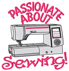 Passionate About Sewing embroidery design