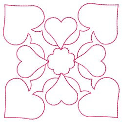 Hearts Outline embroidery design
