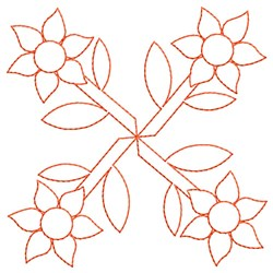 Flowers Outline embroidery design