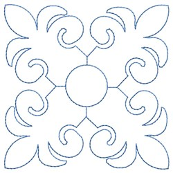 Fleur Outline embroidery design