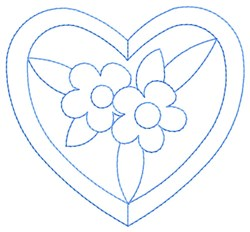 Floral Heart embroidery design