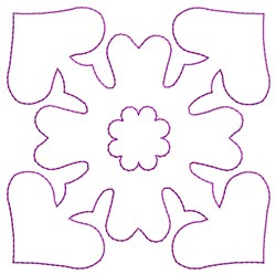 Outline Hearts embroidery design