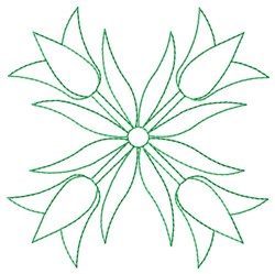 Outline Tulips embroidery design