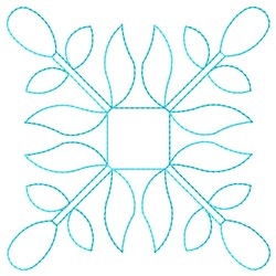 Bud Square embroidery design