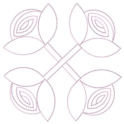 Roses Outline embroidery design