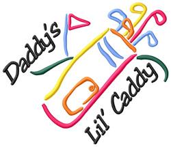 Daddys Lil Caddy embroidery design