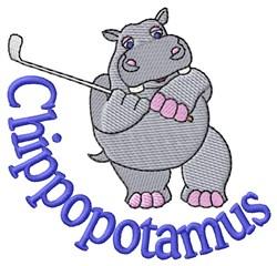 Chippopotamus embroidery design