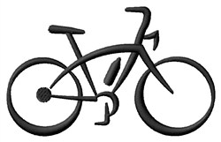 Abstract Bicycle embroidery design