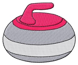 Curling Rock embroidery design