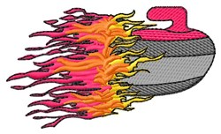Flaming Rock embroidery design