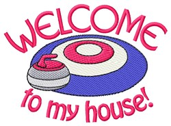 Welcome To House embroidery design