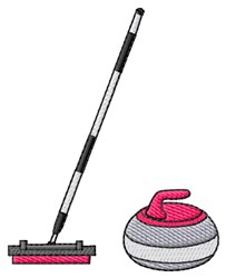 Broom & Rock embroidery design