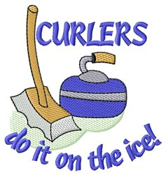 Curlers Do It embroidery design