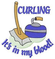 Curling In Blood embroidery design