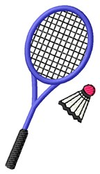 Racquet and Birdie embroidery design