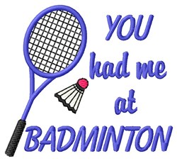 Badminton Champ embroidery design