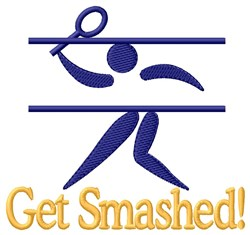 Get Smashed embroidery design