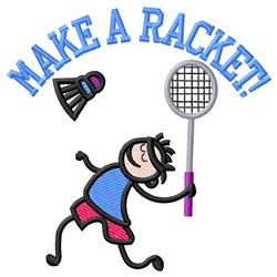 Make Racket embroidery design