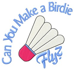 Birdie Fly embroidery design
