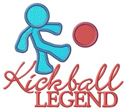 Kickball Legend embroidery design