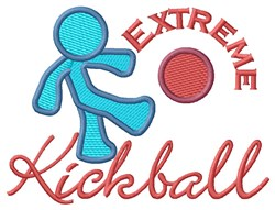 Extreme Kickball embroidery design