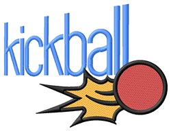 Kickball embroidery design