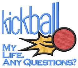Kickball Life embroidery design