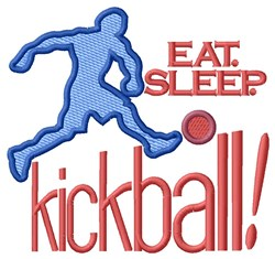 Eat. Sleep.Kickball embroidery design