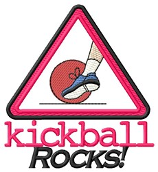 Kickball Rocks embroidery design
