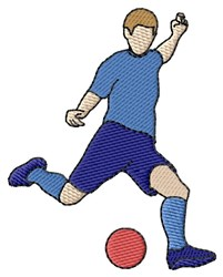 Kickball Kicker embroidery design