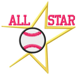 All Star Ball embroidery design
