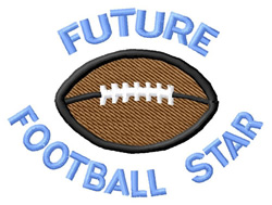 Future Football Star embroidery design