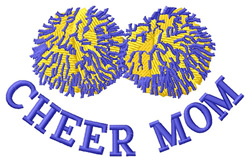 Cheer Mom embroidery design