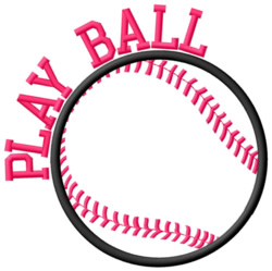 Play BaseBall embroidery design