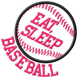 Eat, Sleep, Baseball embroidery design