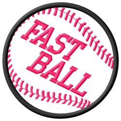 Fast BaseBall embroidery design
